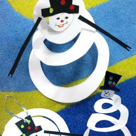 Снеговик-спиралька