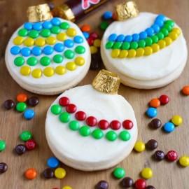 Печенье — елочные шарики