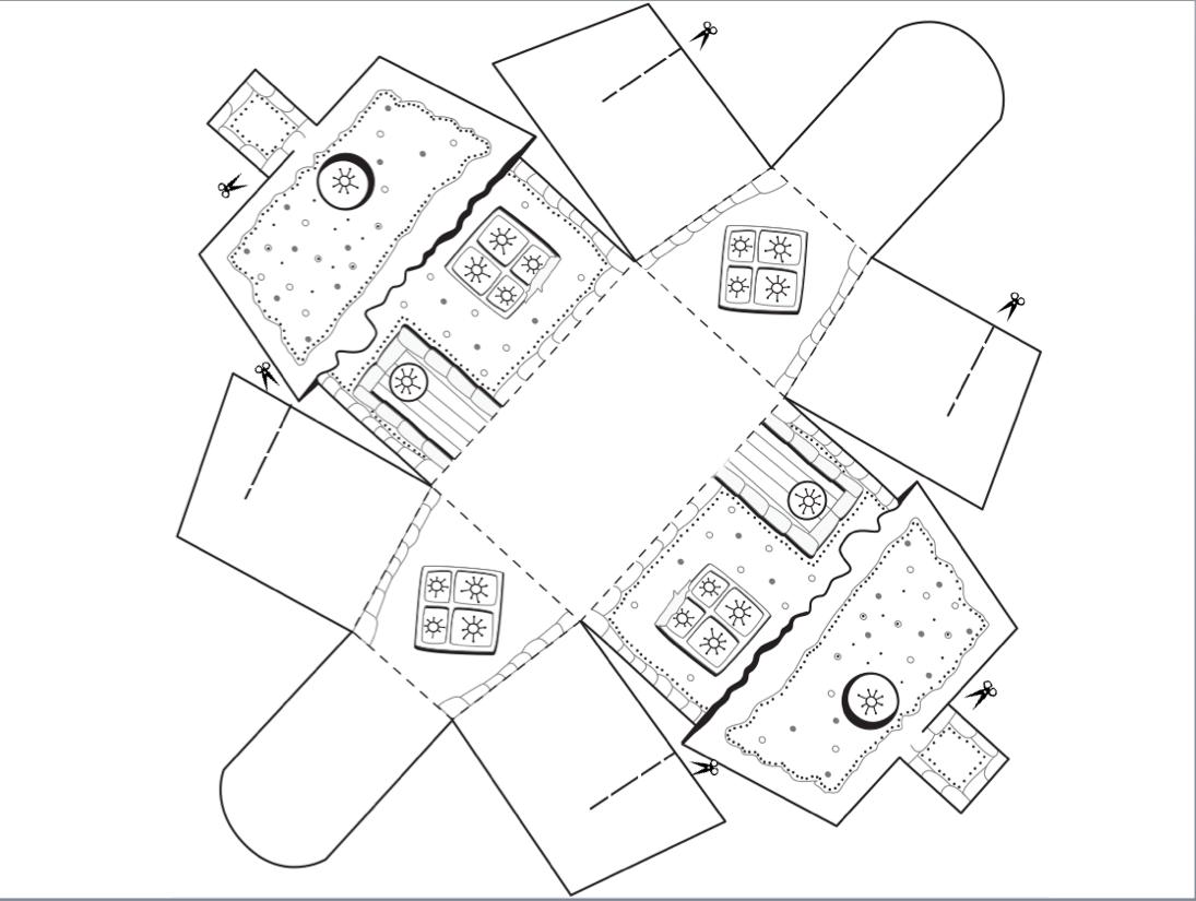 Зимний домик из бумаги своими руками схемы
